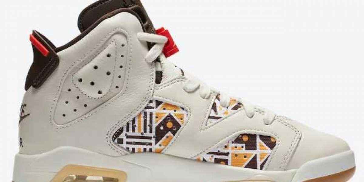 "Air Jordan 6 ""Quai 54"" Sail/Total Orange-Gum Light Brown-Baroque Brown 2020 CZ6506-100 For Sale Online"