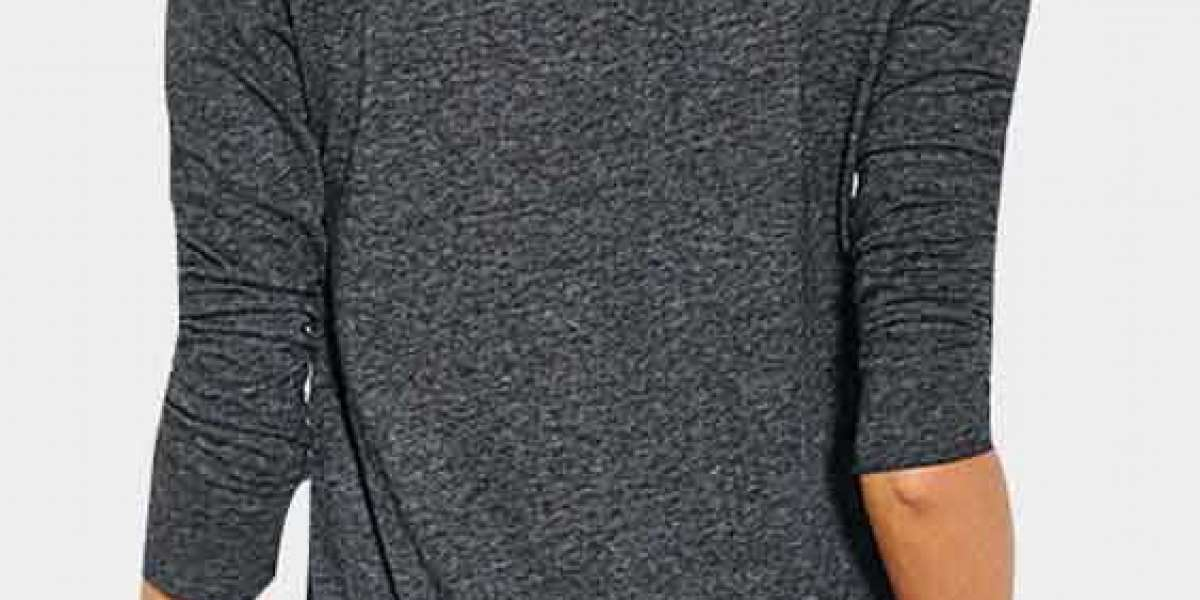 Round Neck Half Sleeve Grey Plus Size Dresses