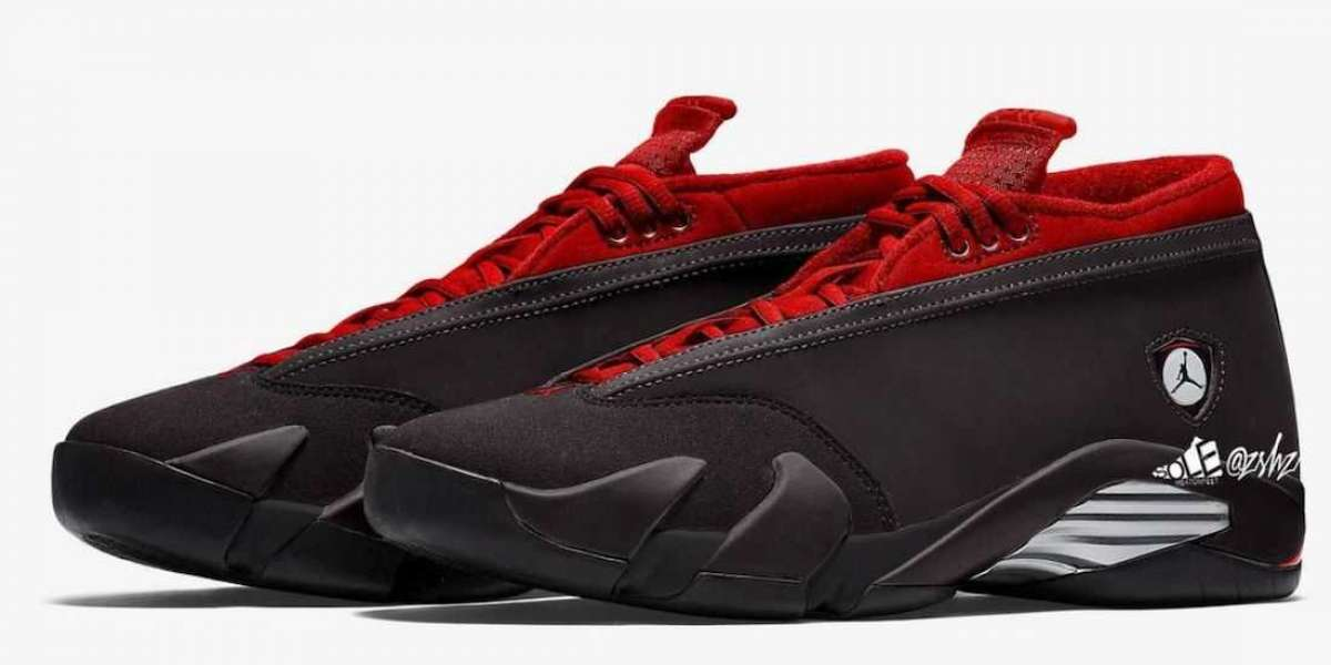 "Best Selling Air Jordan 14 Low ""Black/Gym Red"" to release on September 16th"