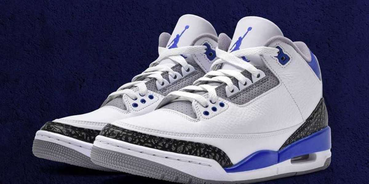 "New Arrive 2021 Air Jordan 3 ""Racer Blue"" Basketball Shoes CT8532-145"