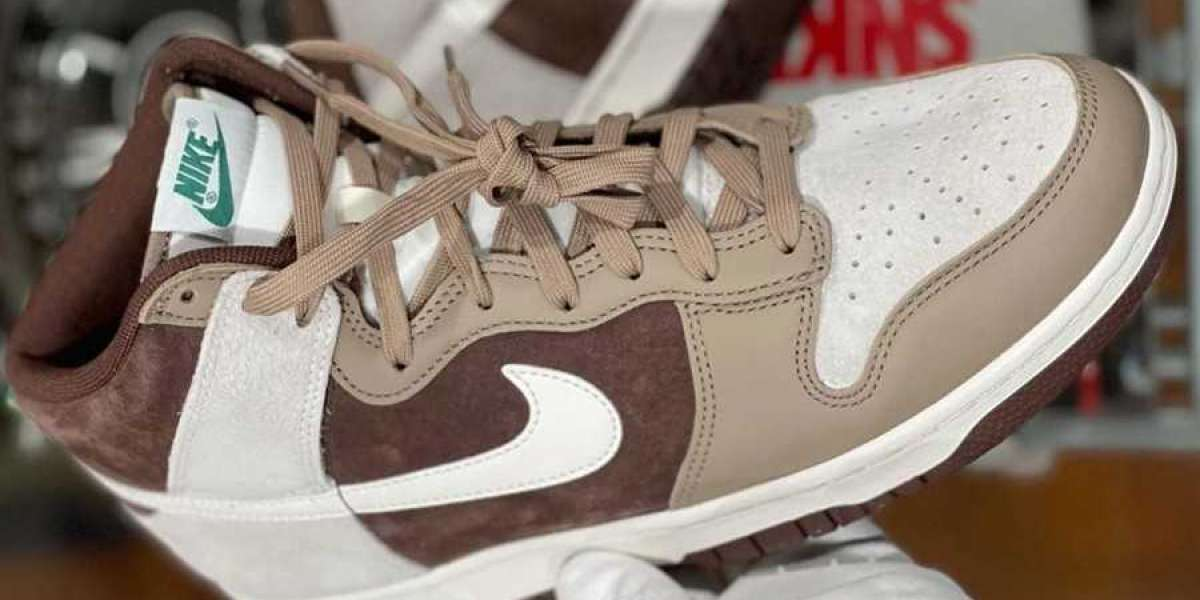 """Nike Dunk High Premium """"Light Chocolate"""" DH5348-100 For Sale Online!"""