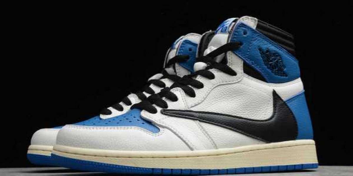 "Best Price Travis Scott x fragment x Air Jordan 1 Hi ""Military Blue"" For Sale"