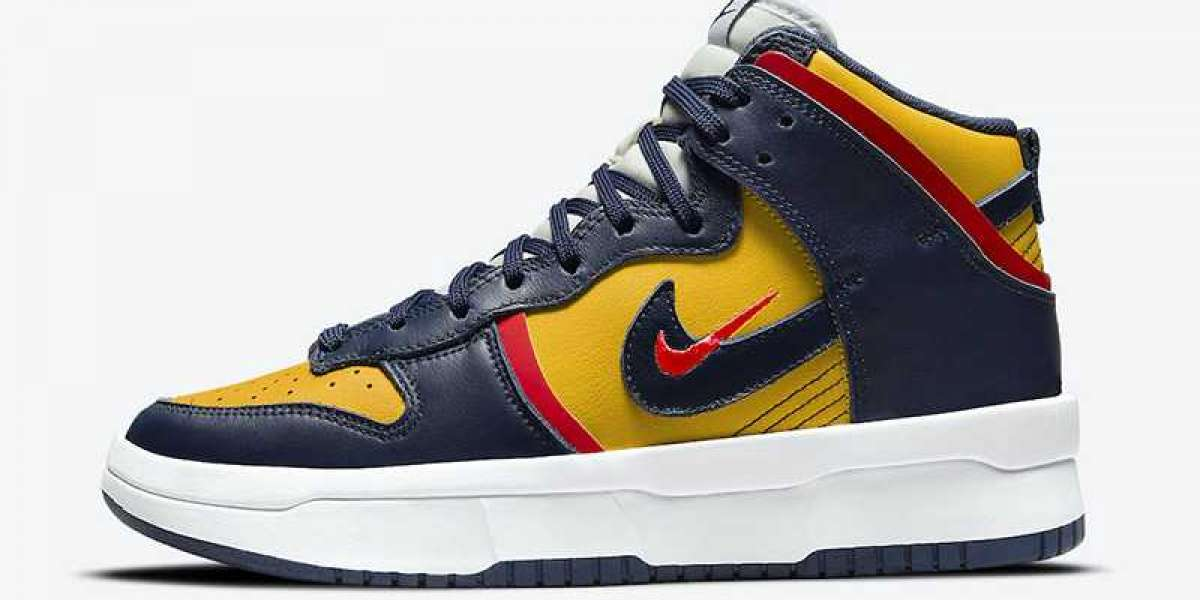 """Hot Sell! 2021 New Nike Dunk High Rebel """"Michigan"""" DH3718-701 For Sale Online."""