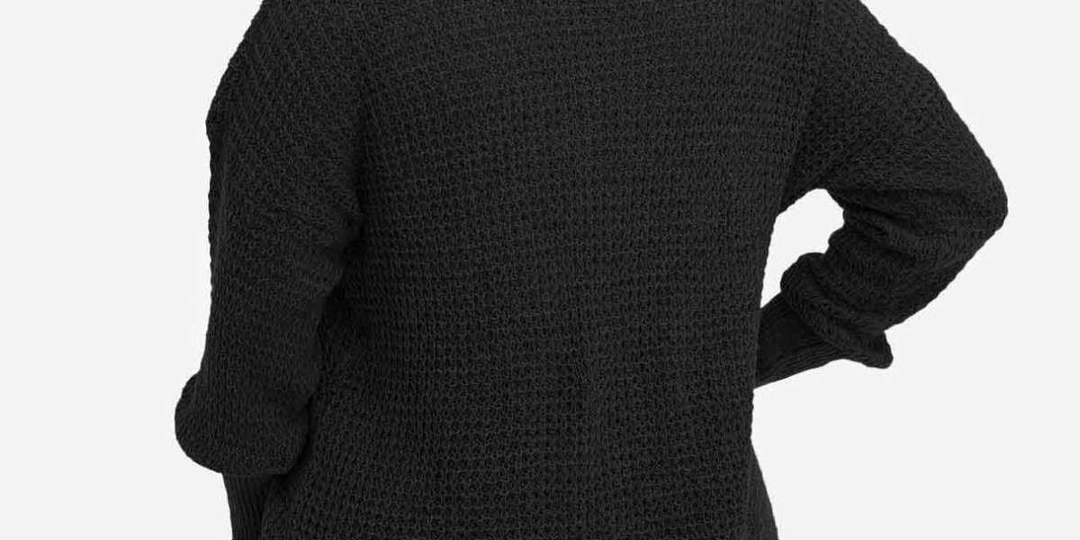 High Neck Plain Crossed Front Cut Out Long Sleeve Slit Hem Grey T-Shirts