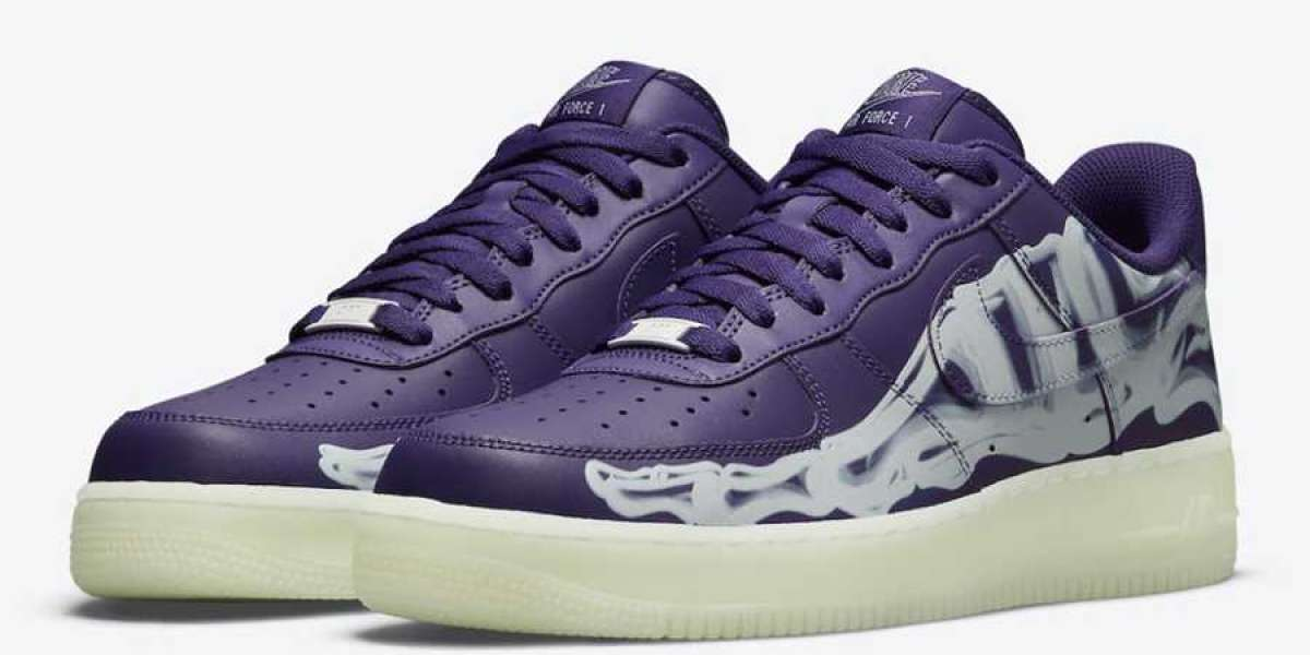 """The new Halloween theme Nike Air Force 1 """"Purple Skeleton"""" is now on sale"""